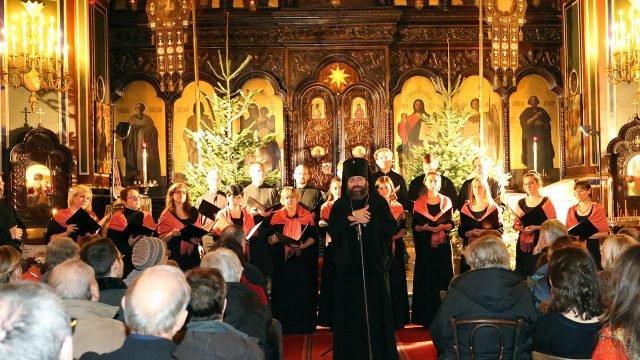 Рождественский концерт в кафедральном соборе Святого Александра Невского в Париже