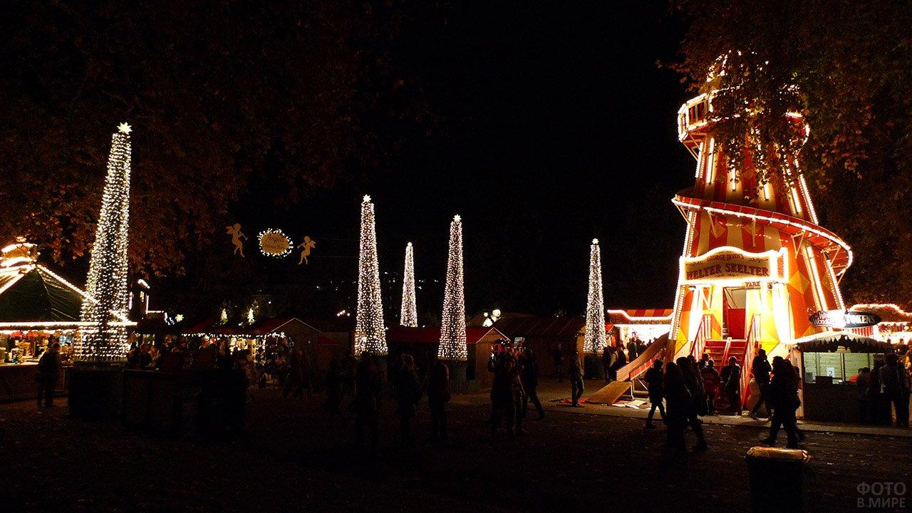 Рождественский сочельник в Лондонском Гайд-парке