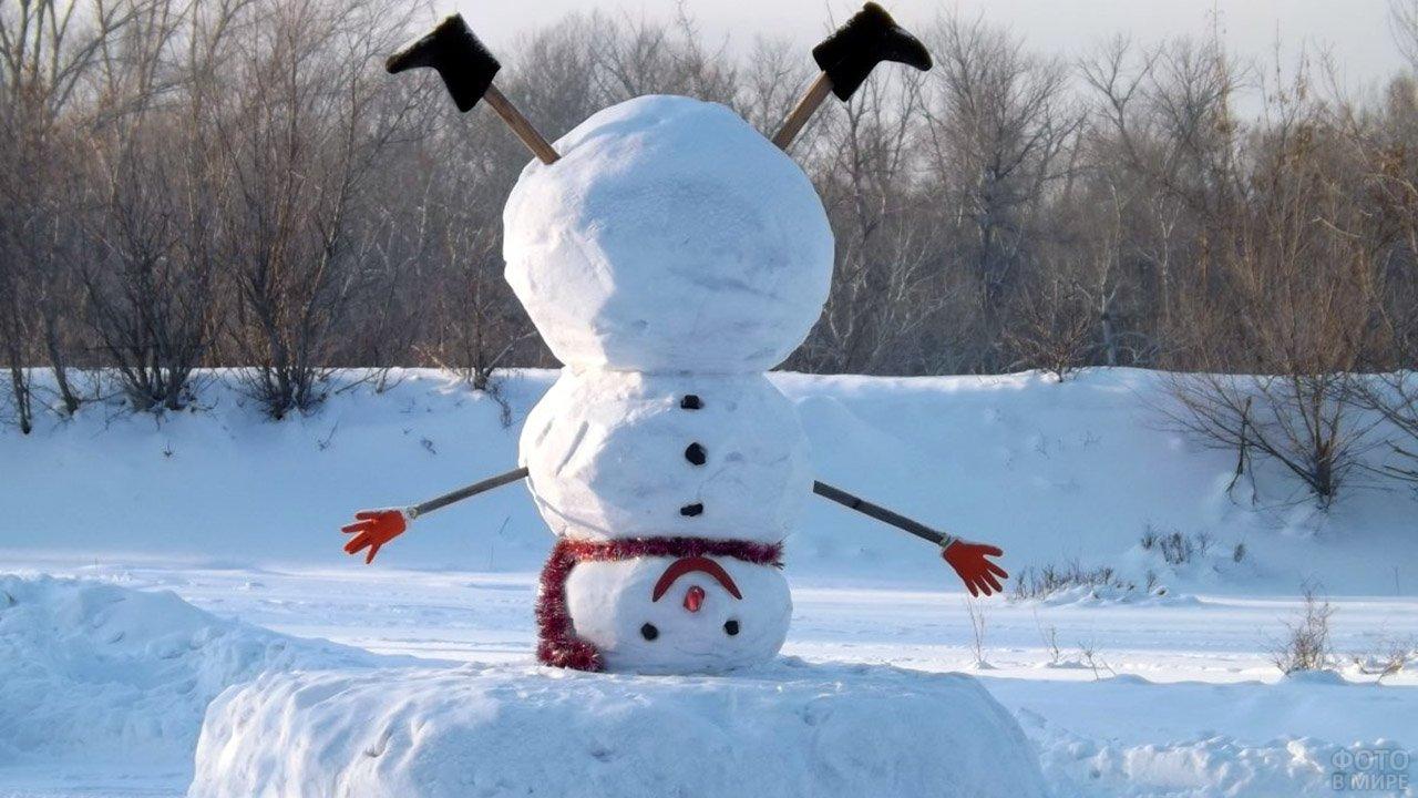 Снеговик вверх тормашками