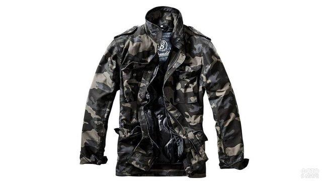 Куртка-милитари камуфляжной расцветки