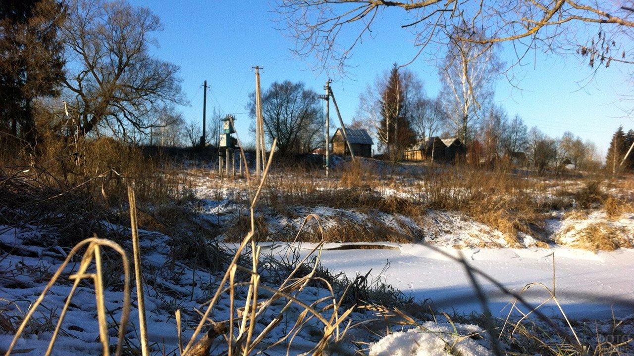 Зимнее утро в деревеньке под Смоленском