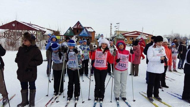 Участница Лыжни Росии в Ханты-Мансийске