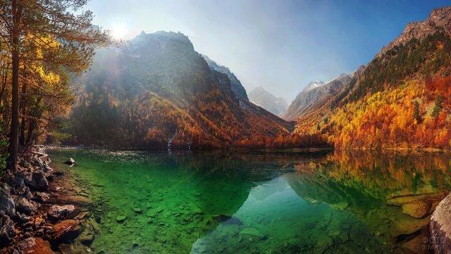 Осенний пейзаж на Бадукских озёрах