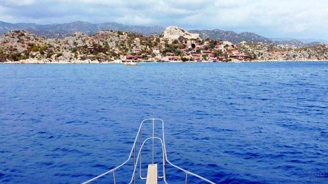 Панорама острова Кекова в Анталье