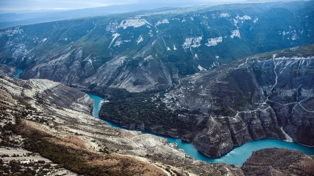 Каньон в Кавказских горах Дагестана
