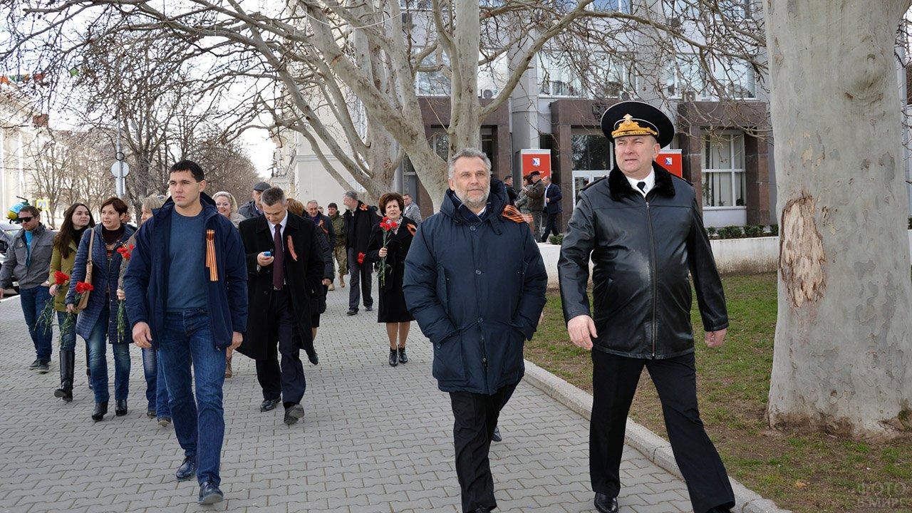 Демонстранты 23 февраля в Севастополе