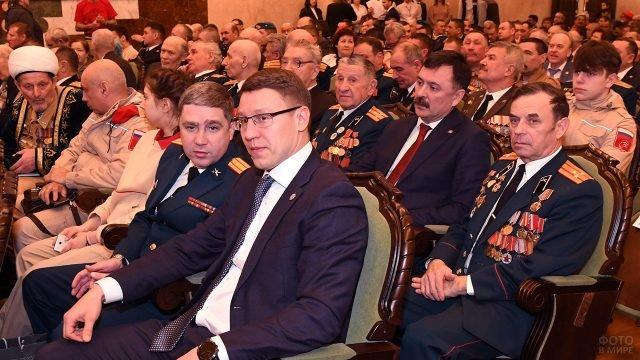Зрители праздничного концерта в честь 23 февраля в Казани