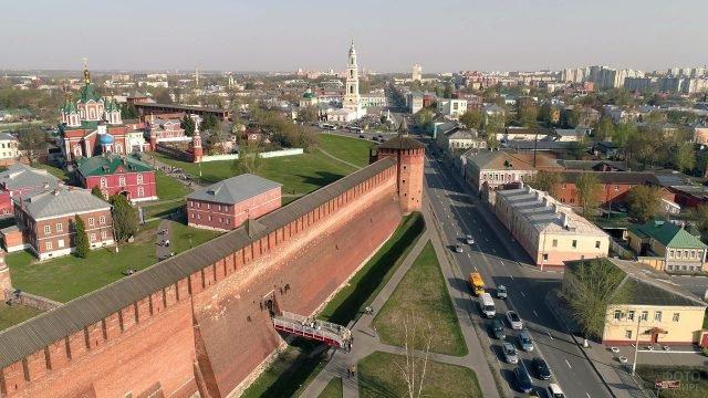 Коломенский кремль с высоты птичьего полёта