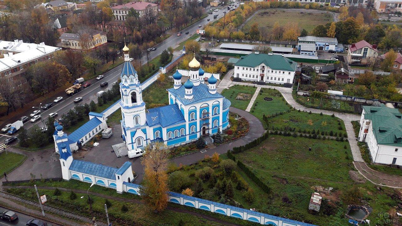 Скорбященская Церковь в Иваново с высоты птичьего полёта