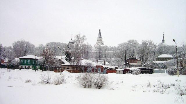 Заснеженные купола над зимним Александровым