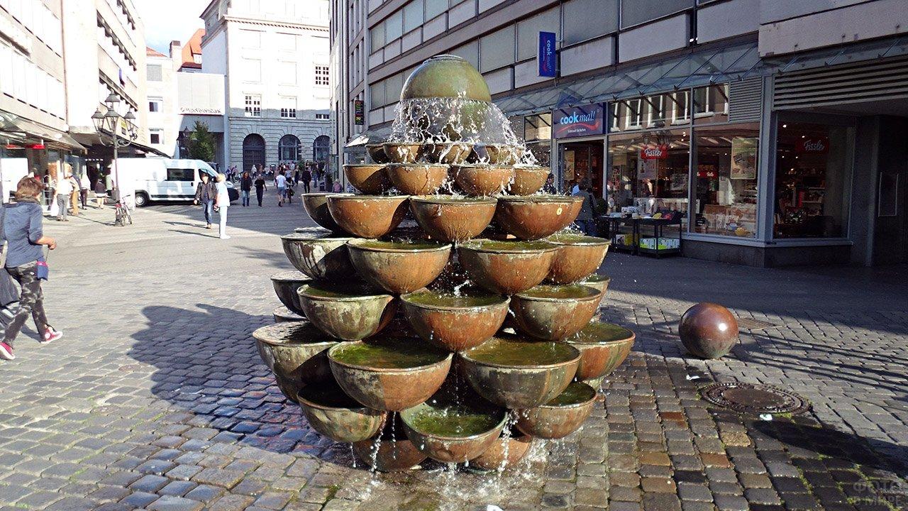 Чаши каскадного фонтана в Нюрнберге