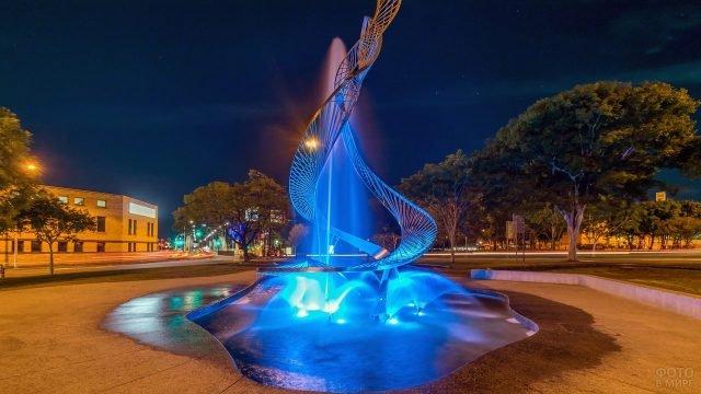 Красивый фонтан в Австралии