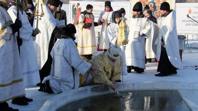 Обряд Водосвятия в Тюмени