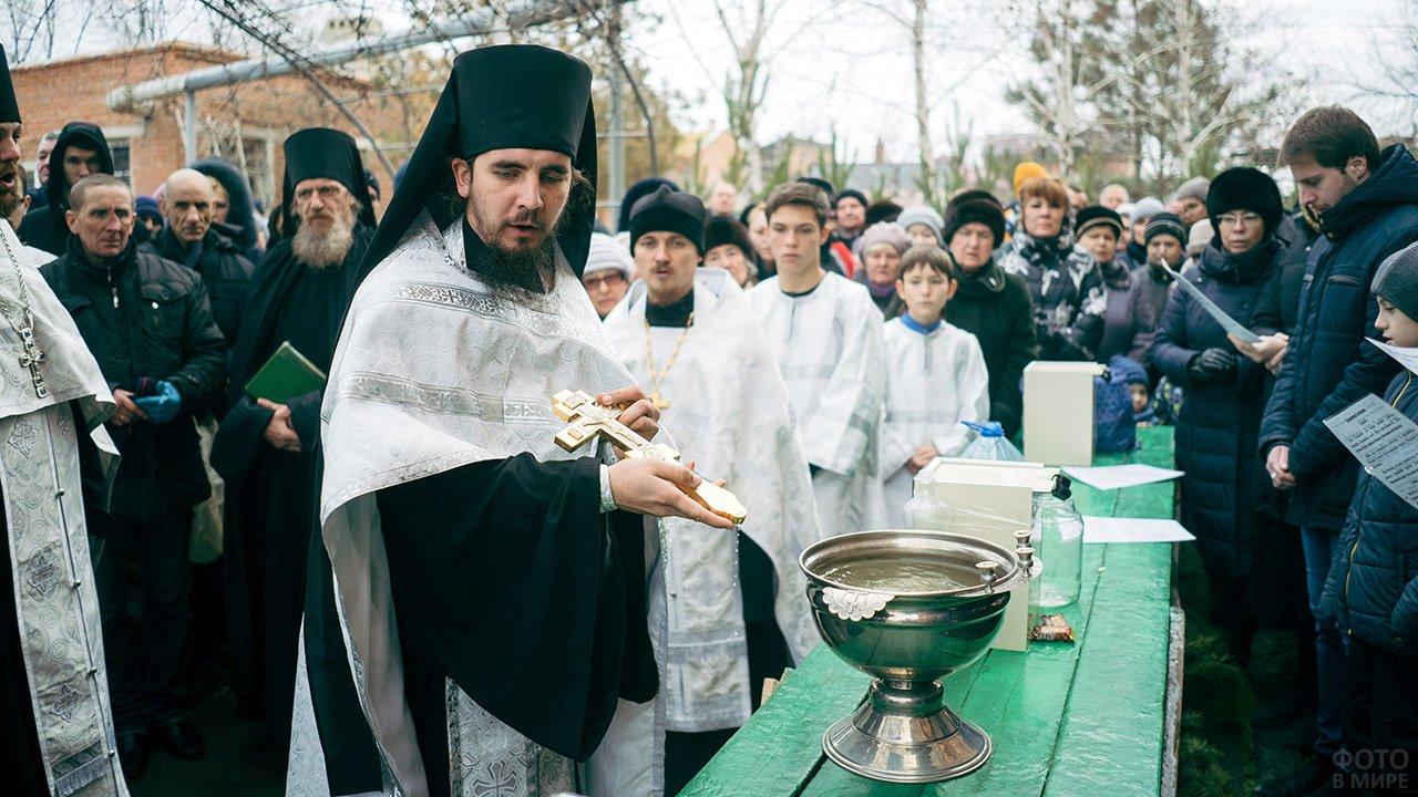 Праздник Богоявления в астраханском монастыре
