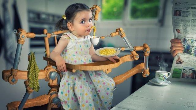 Стул-робот для кормления ребёнка