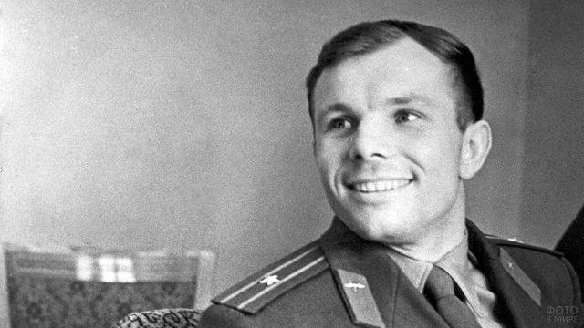 Гагарин в апреле 1961 года после возвращения из космоса