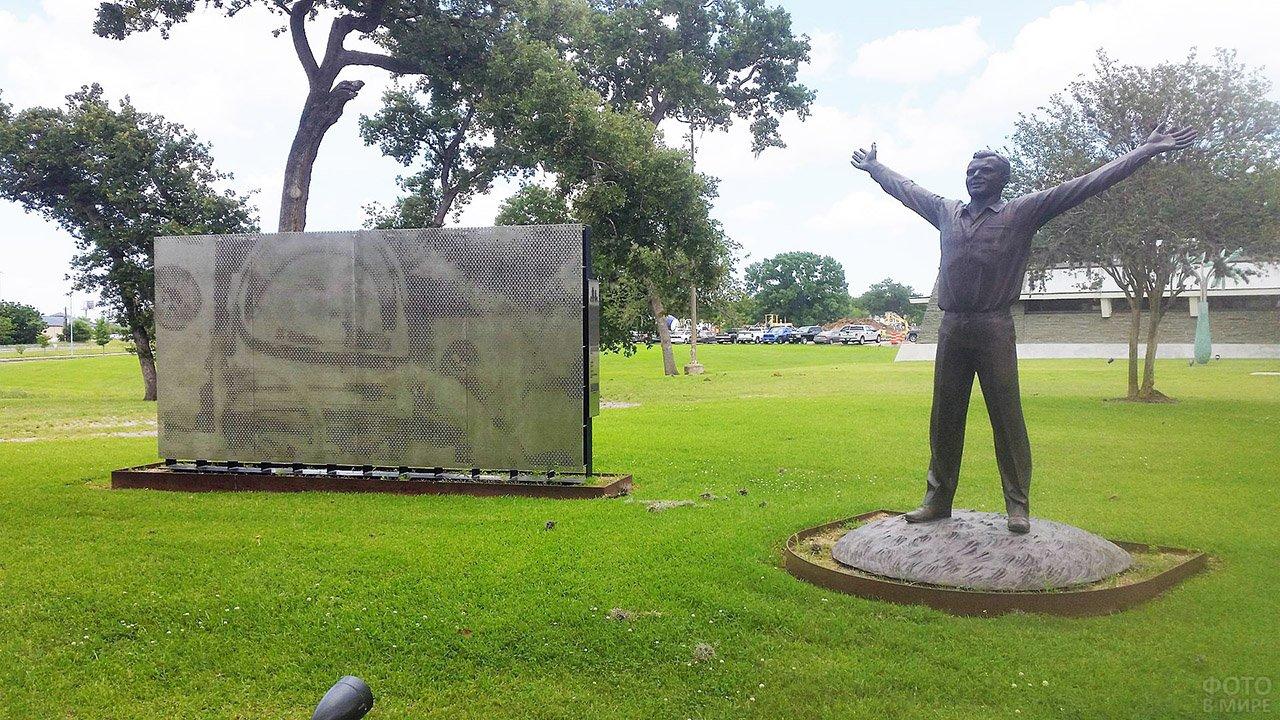 Памятник Юрию Гагарину в Хьюстоне