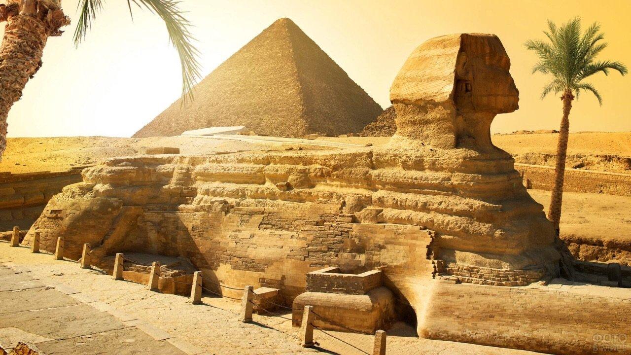 Пустынная атмосфера древнего Египта