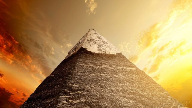 Вершина пирамиды с прекрасным пейзажем