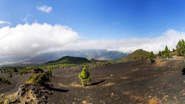 Панорама вулканического острова Ла-Пальма