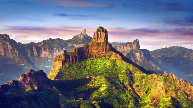 Закат над пиками острова Гран-Канария