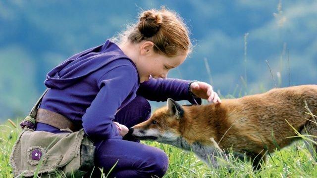 Лисичка знакомится с маленькой девочкой