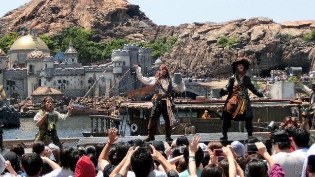 Шоу по мотивам Пиратов Карибского моря в Диснейленде