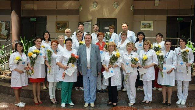 Сотрудники московского Научного центра практической помощи в День медработника