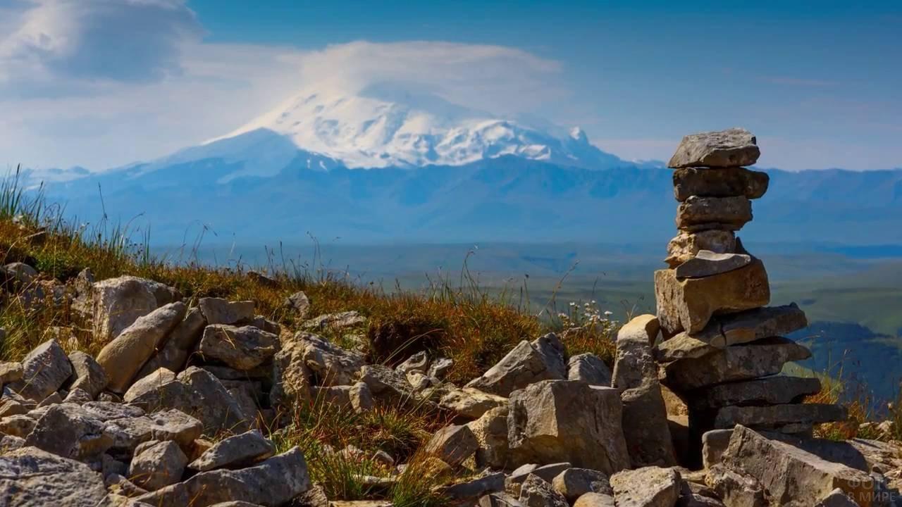 Виды на Эльбрус с плато Бермамыт