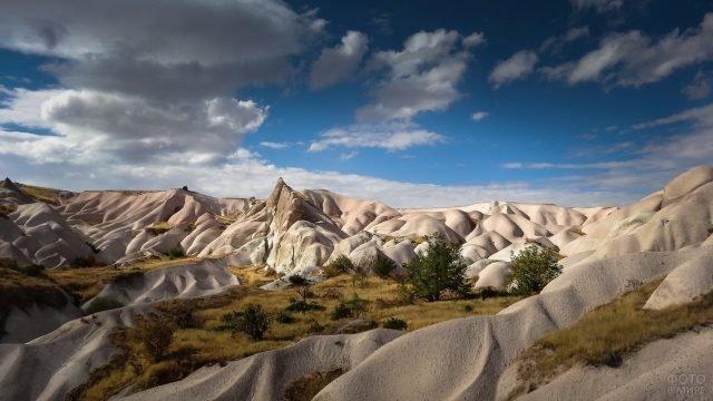 Песчаные холмы в Каппадокии