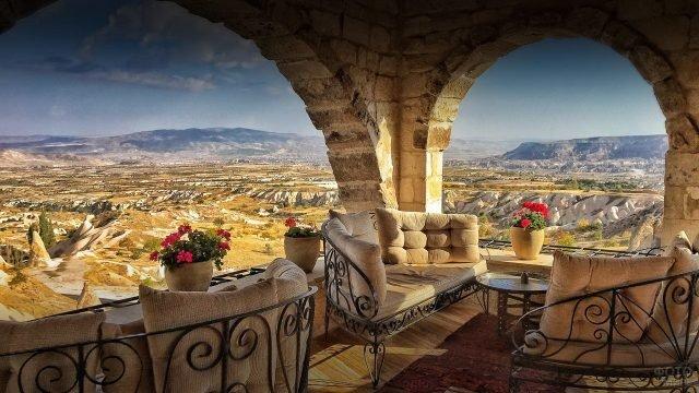 Вид из отеля в Каппадокии