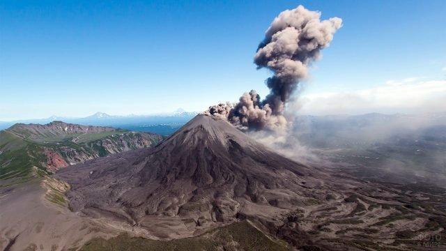 Извержение жупановского вулкана