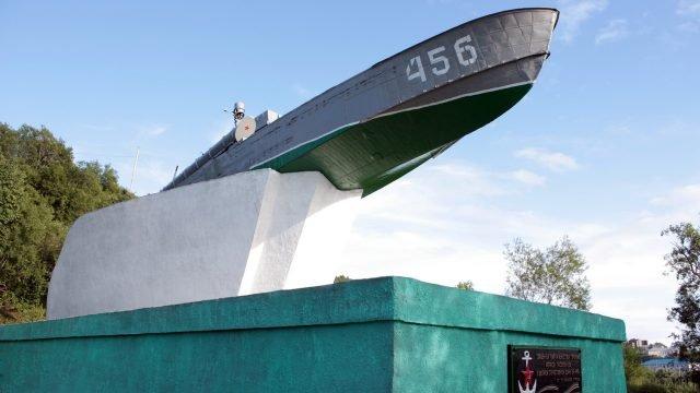 Памятник Торпедный катер в Петропавловске-камчатском