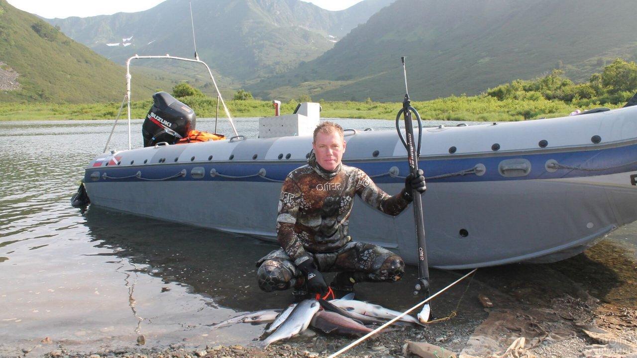 Трофеи подводной камчатской охоты