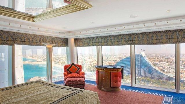 Панорамный вид из окна отеля Бурдж-эль-Араб