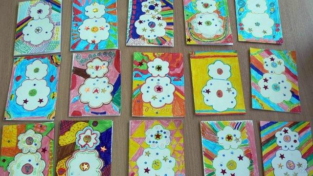 Яркие детские открытки-рисунки к 8 марта