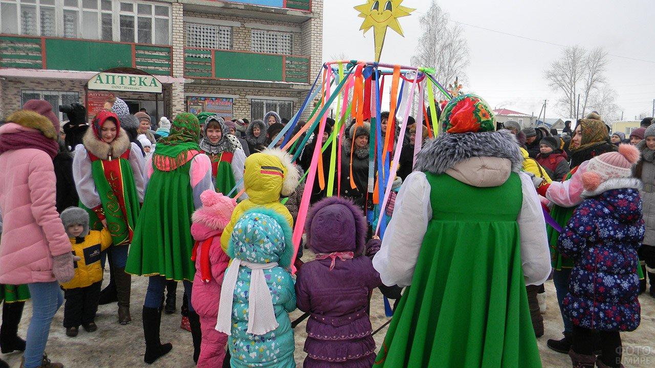 Масленичная карусель в Прощёное воскресенье в Нижегородской области