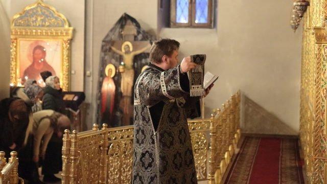 Служба в храме в Прощёное воскресенье