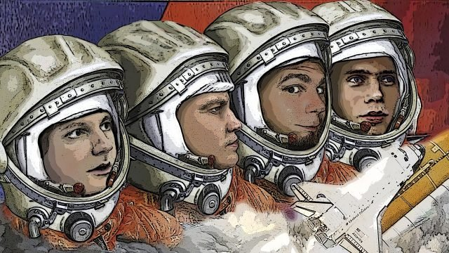 Рисунок космонавтов