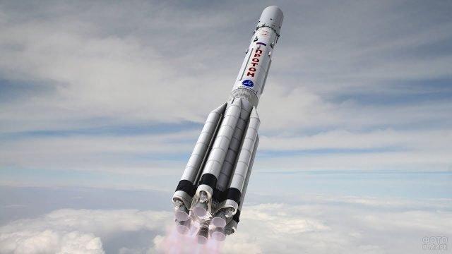 Взлёт ракетоносителя Протон