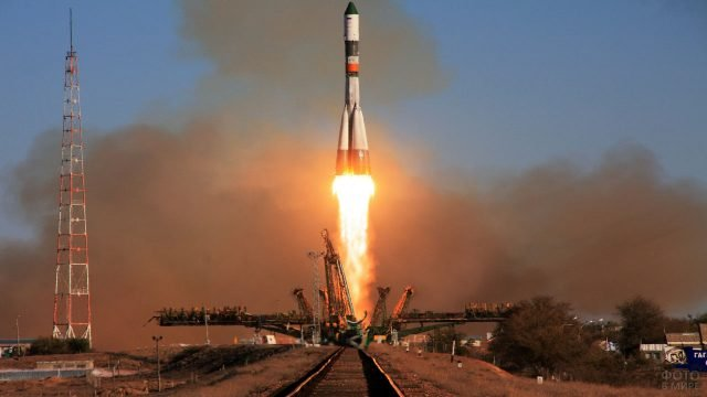 Взлёт ракеты с Байконура
