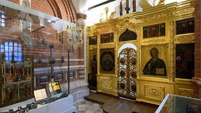 Экспозиция Исторического музея в одной из церквей храма Василия Блаженного