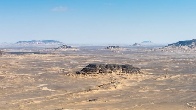 Панорама пустыни Сахара в Египте