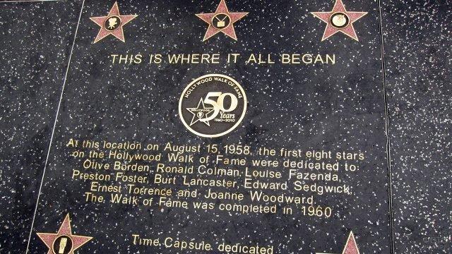 Юбилейная звезда на Аллее славы в Голливуде