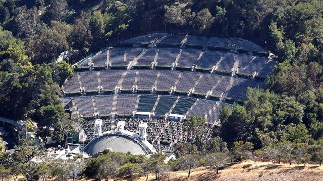 Концертная площадка Голливудский Шар на склоне Голливудского холма