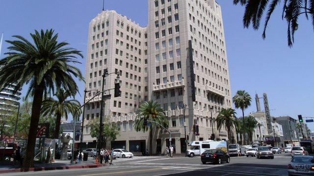 Угол Бульвара Голливуд и Вайн-стрит
