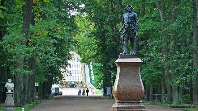 Памятник Петру I в Петергофе