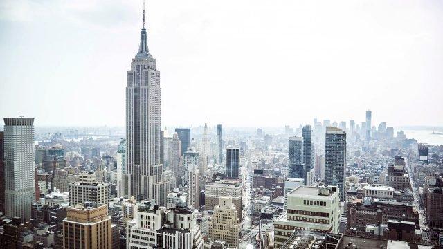 Панорама зимнего Манхэттена