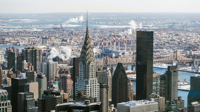 Вид на Манхэттен со смотровой площадки Эмпайр Стейт Билдинг