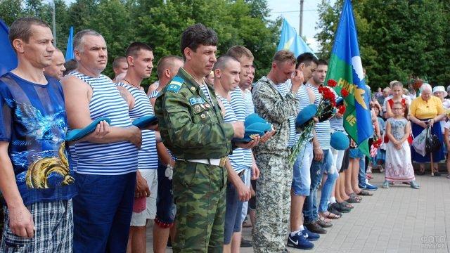 Десантники на праздновании Дня ВДВ в Подмосковье